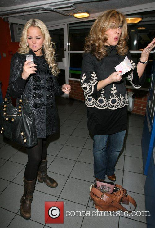 Jennifer Ellison and Tracey Ann-Oberman buying a parking...