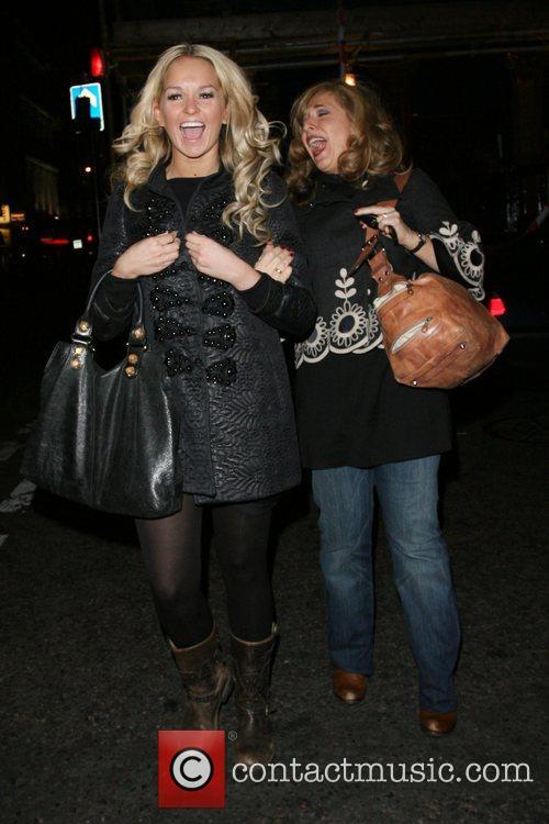 Tracey Ann-Oberman and Jennifer Ellison leave the pub...