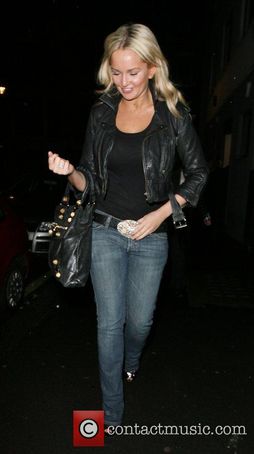 Jennifer Ellison leaving the Comedy Theatre after her...