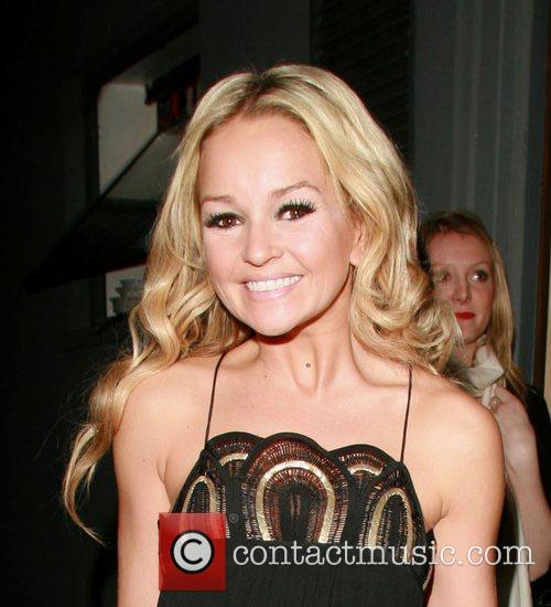 Jennifer Ellison leaving the Comedy Theatre where she...