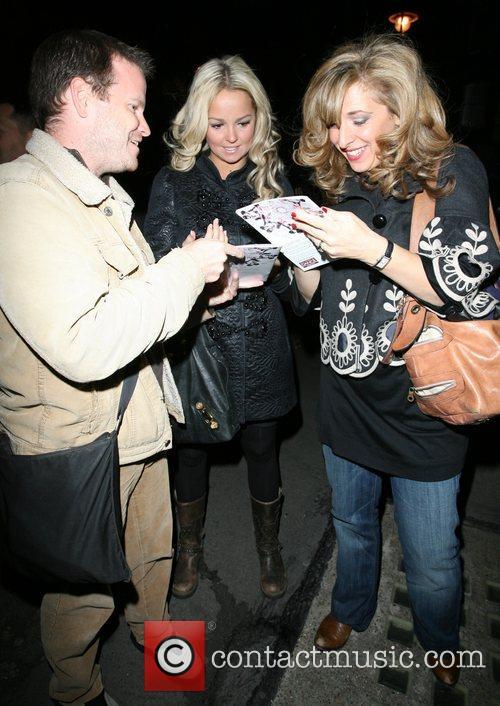 Jennifer Ellison and Tracey Ann-Oberman sign autographs for...