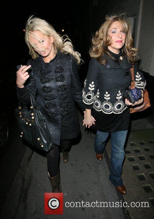 Jennifer Ellison and Tracey Ann-Oberman in high spirits,...
