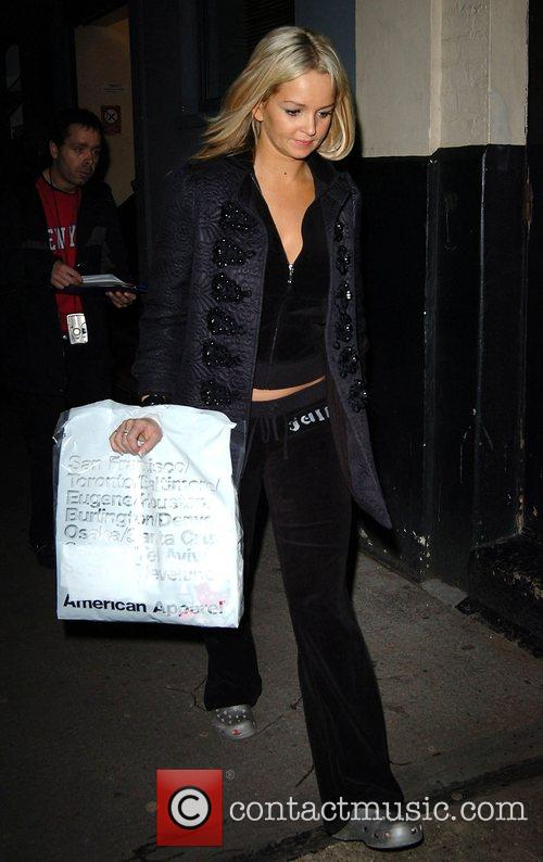 Jennifer Ellison carrying an American Apparel shopping bag...