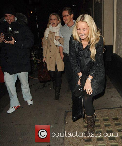 Jennifer Ellison amused when a photographer tripped over...
