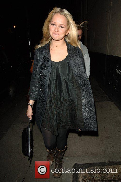 Jennifer Ellison leaving the Comedy theatre after her...