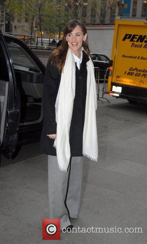 Jennifer Garner leaving the Fox Television Studios after...