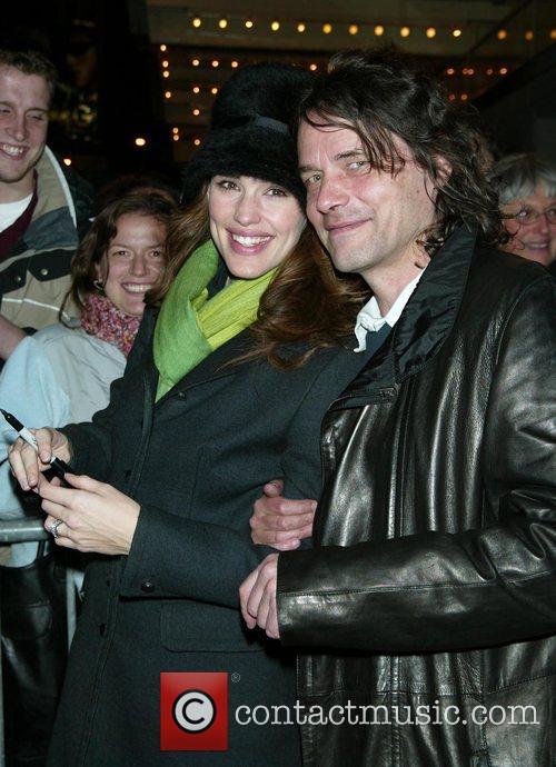 Jennifer Garner and Director David Leveaux greets fans...