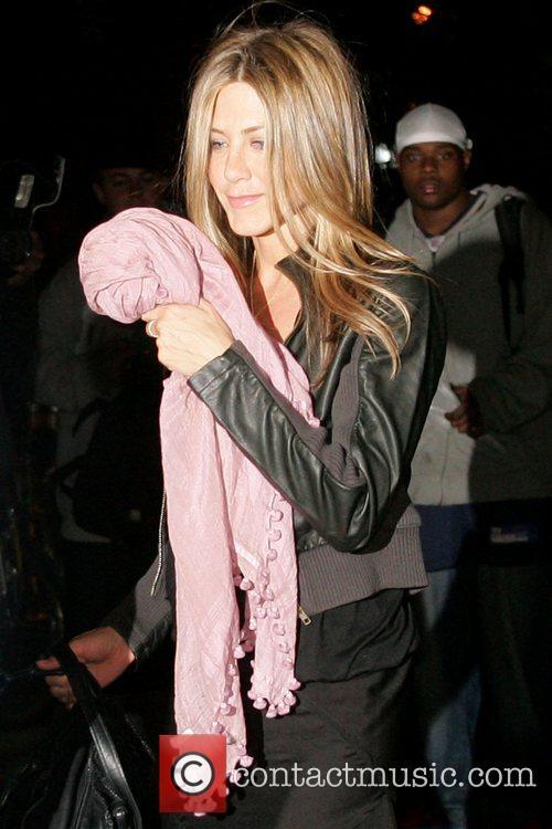 Jennifer Aniston leaving the Waverly Inn restaurant after...