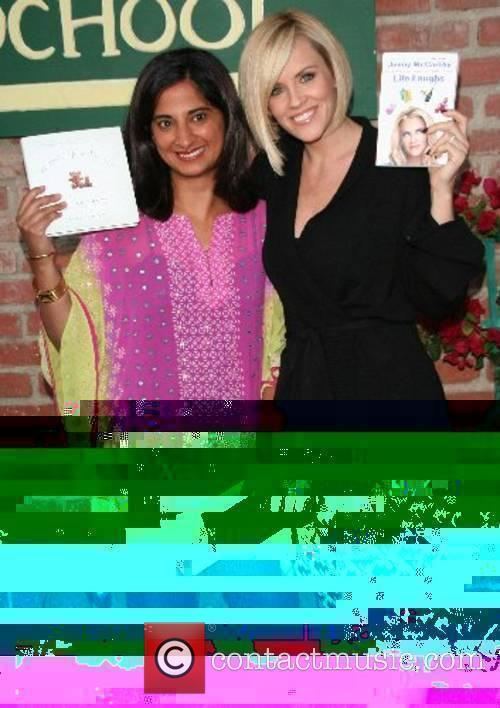Mallika Chopra, left, and Jenny McCarthy at her...