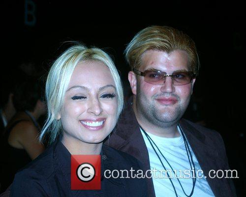 Jason Davis and Guest Mercedes-Benz Fashion Week 2008...