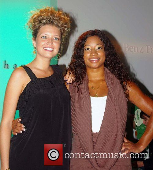 Mika Combs and guest Mercedes-Benz Fashion Week 2008...