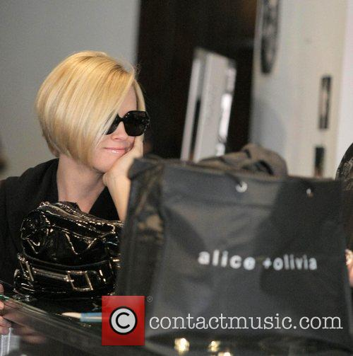 Jenny McCarthy Christmas shopping at Alica and Olivia...