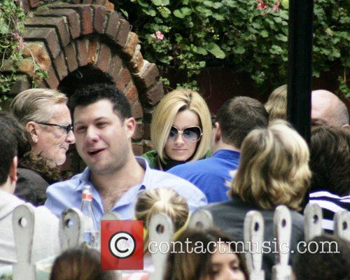 Jenny McCarthy dining at the Ivy restaurant with...