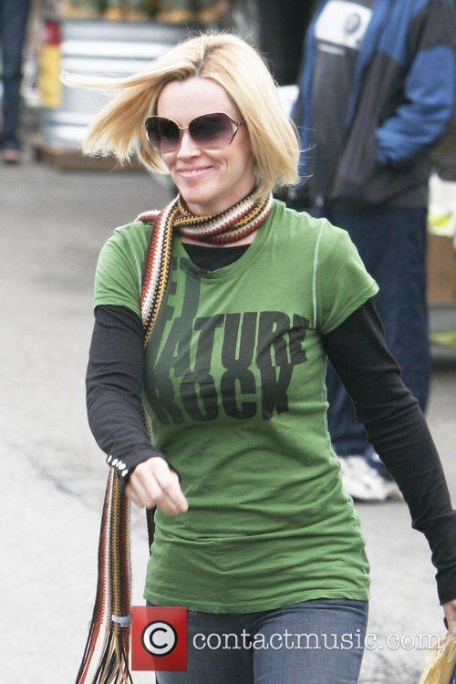 Jenny McCarthy leaving Whole Foods Market with a...