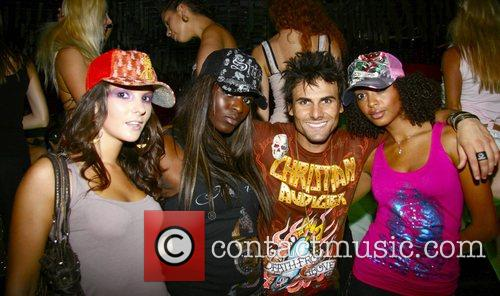 Jeremy Jackson and models at the Christian Audigier...