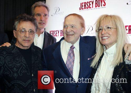Frankie Valli, Bob Gaudio, Sheldon Adelson and Miriam...