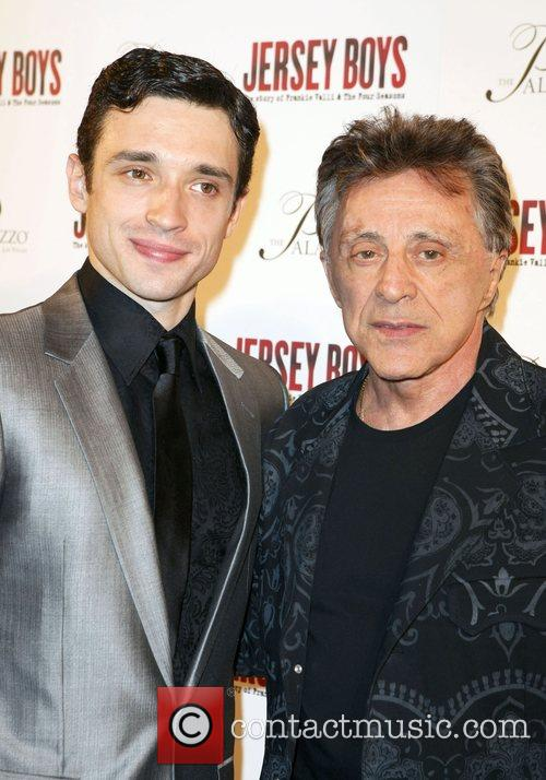 Rick Faugno and Frankie Valli Opening Night after...