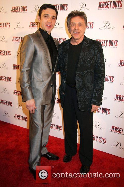 Rick Faugno, Frankie Valli Opening Night of 'Jersey...