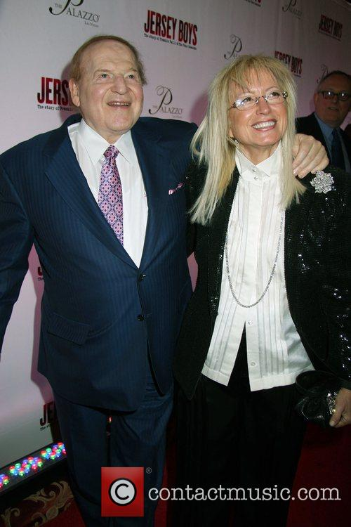 Sheldon Adelson, Dr.Miriam Adelson Opening Night of 'Jersey...