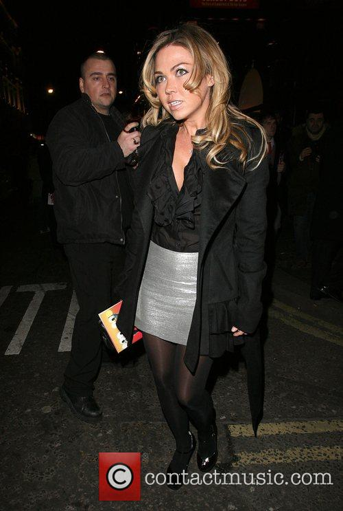 Adele Silva leaves the opening night of the...