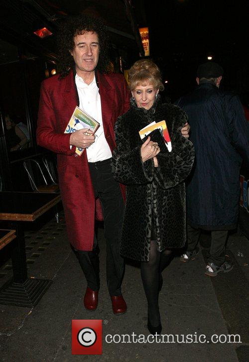 Brian May leaves the opening night of the...