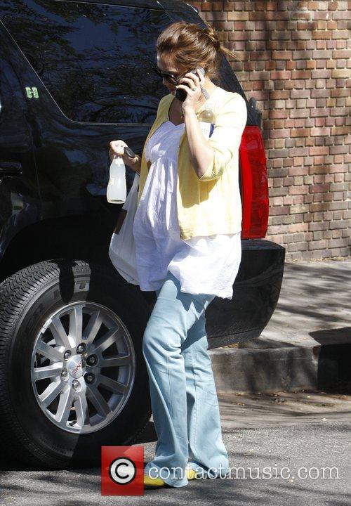 Jessica Alba leaves Champagne restaurant having picked up...
