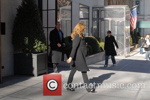 Jessica Alba leaves her Manhattan hotel