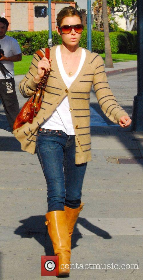 Jessica Biel out walking in Beverly Hills Los...