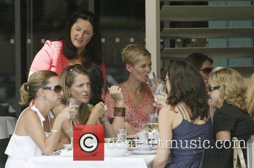 Australian television presenter Jessica Rowe enjoys brunch on...