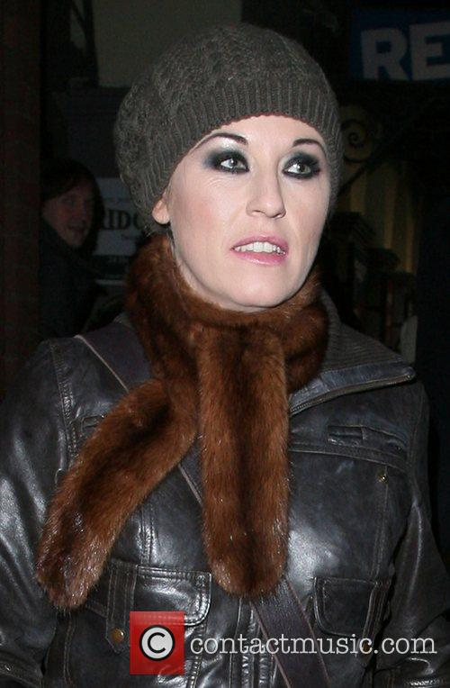 Jessie Wallace leaving the Duke of York theatre,...