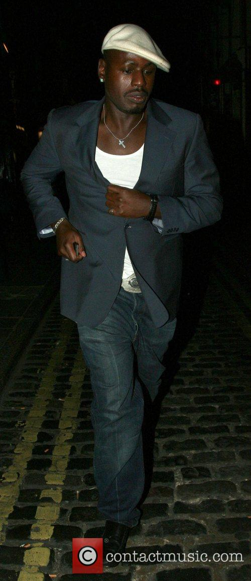 Christian Ben Ofoedu leaving Jewel, Covent Garden London,...