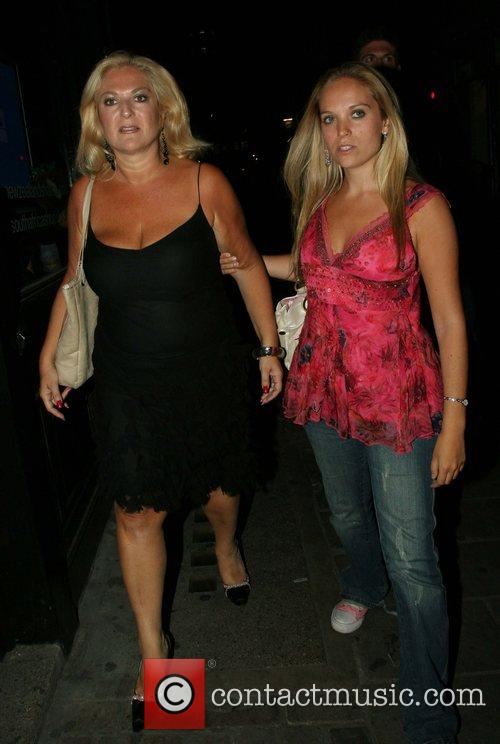 Vanessa Feltz leaving Jewel, Covent Garden London, England