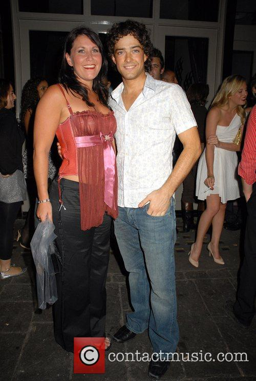 Lee Mead and guest OK Magazine burlesque party...