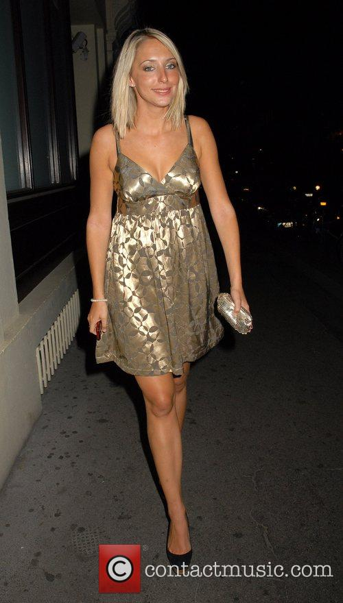 Ali Bastian OK Magazine burlesque party at Jewel...