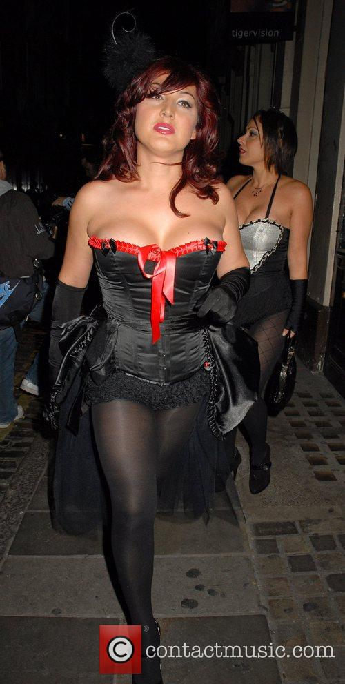Nadia Almada OK Magazine burlesque party at Jewel...