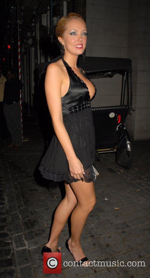 Aisleyne Horgan Wallace OK Magazine burlesque party at...
