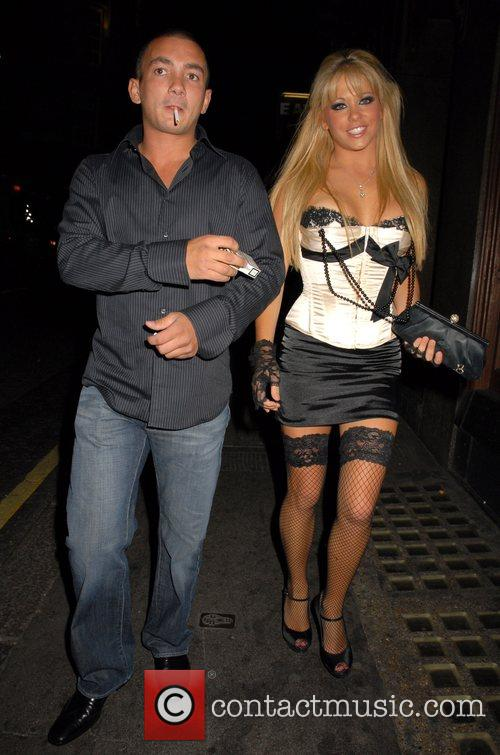 Bianca Gascoigne and guest OK Magazine burlesque party...