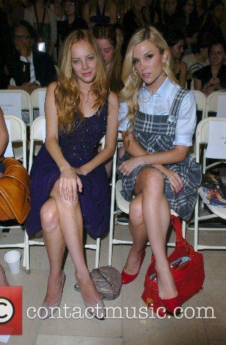 Bijou Phillips and Tinsley Mortimer Mercedes-Benz Fashion Week...