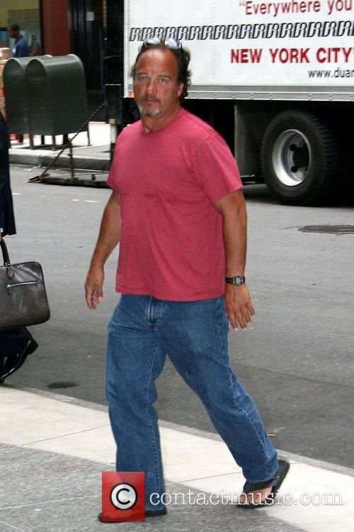 Jim Belushi arrives at his Manhattan hotel while...