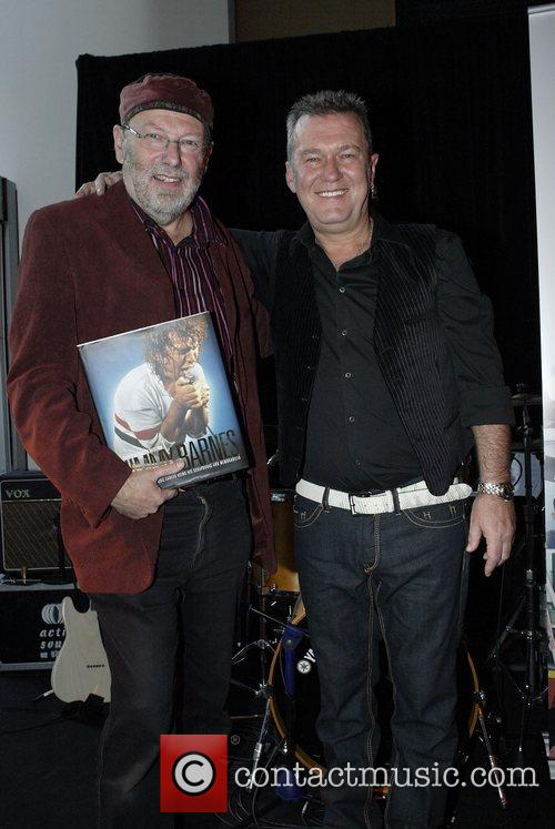Glenn A. Baker and Jimmy Barnes The launch...