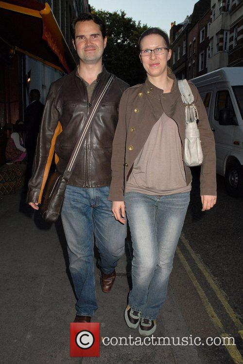 Jimmy Carr and friend out walking