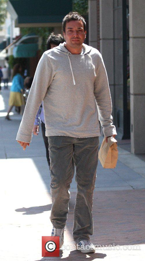 American actor Jimmy Fallon leaving a Beverly Hills...