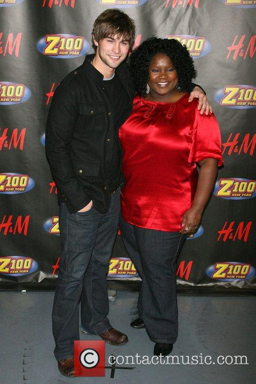 Chace Crawford and Shelley Wade Z100's Jingle Ball...