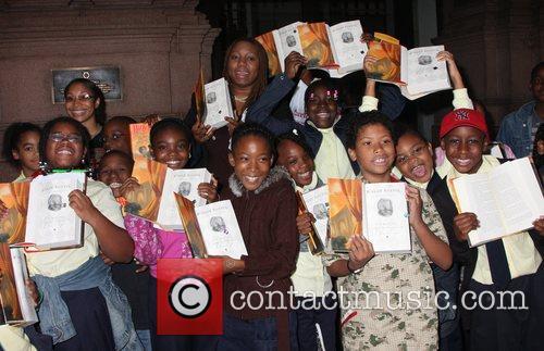 Schoolchildren 'Harry Potter' author J.K. Rowling's 'Open Book...