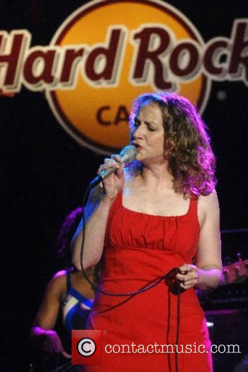 Joan Osborne performing at the Hard Rock Cafe...