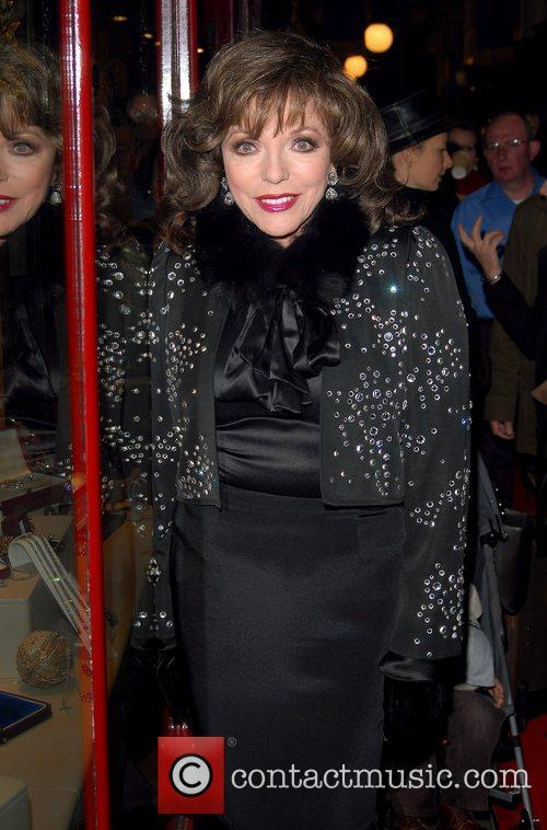 Joan Collins Turns On Burlington Arcade Christmas Lights