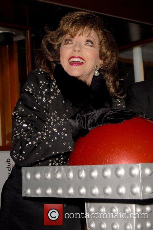 Joan Collins Turns On Burlington Arcade Christmas Lights...