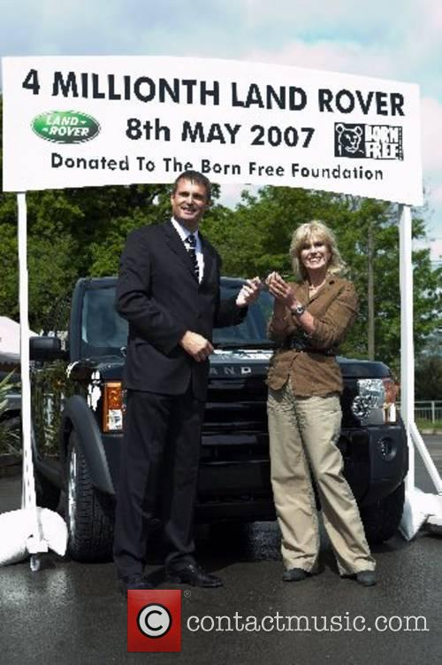 Land Rover donate the four millionth Land Rover...