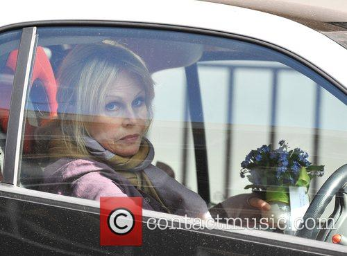 Joanna Lumley takes some flowers to The Duke...