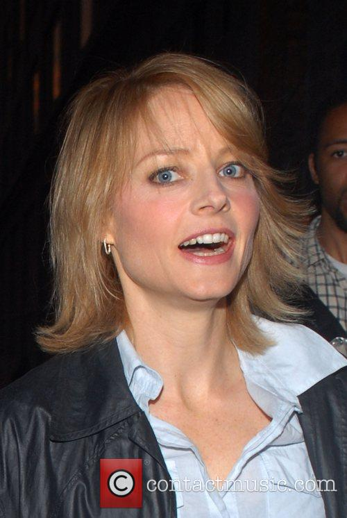 Jodie Foster leaving the Comedy Central Studios after...